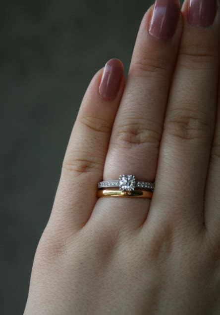 Obsessed  Yellow gold wedding band, white ering