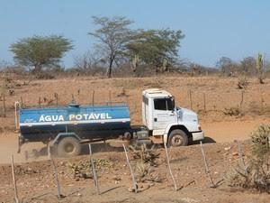 Água de carro-pipa é comprada entre R$ 130 a R$ 150 (Foto: Taisa Alencar / G1)