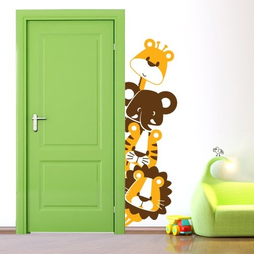 Adesivo murale wall sticker per bambini animaletti for Decorazione wall sticker