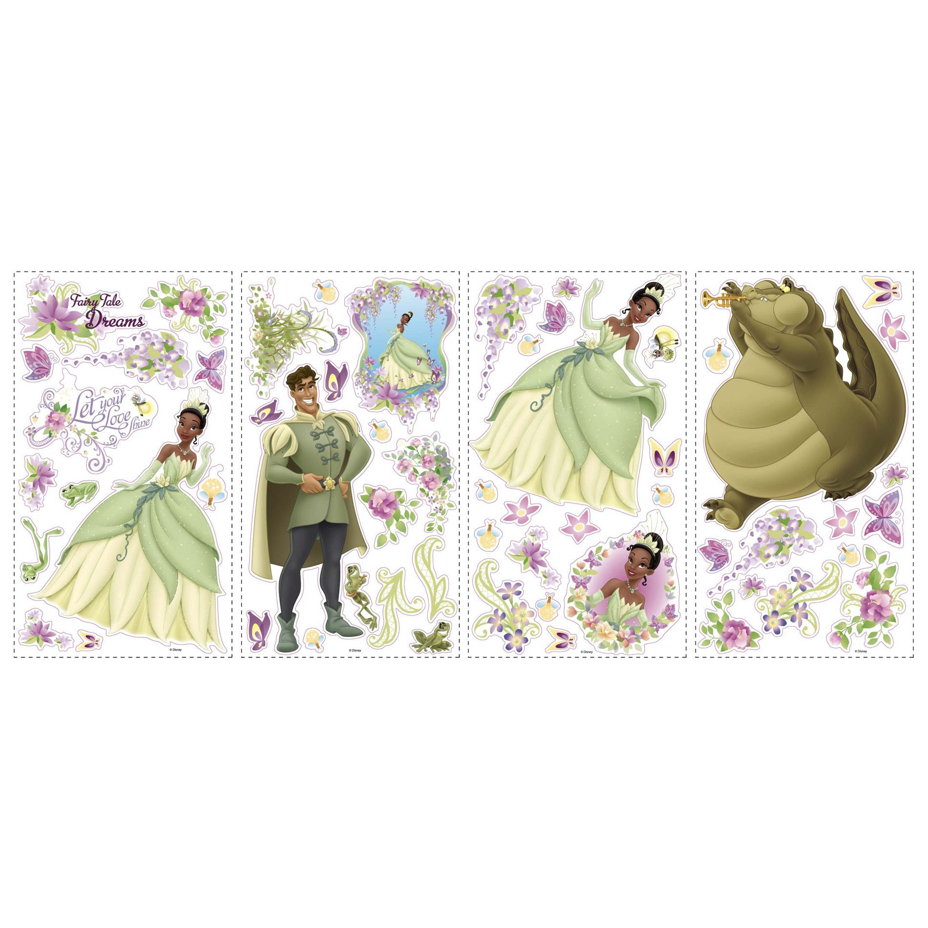 RoomMates Disney Princess - Princess Quotes Peel & Stick Wall ...