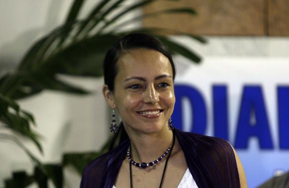 Tanja Nijmeijer es una de las delegadas de las FARC para el diálogo de Paz. Foto: Ismael Francisco/Cubadebate.