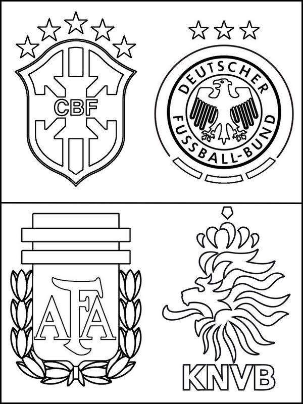 ausmalbilder fussball wappen deutschland  kinder zeichnen