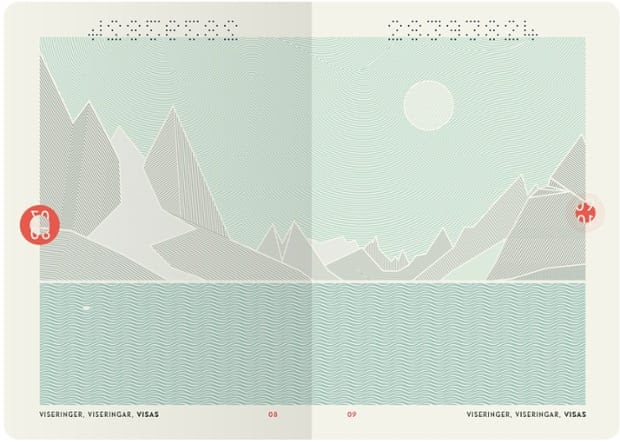 Nordic cool: Oslo design studio Neue have won a competition to create a new passport and ID concept for Norway.