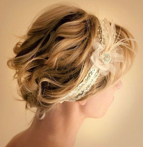 10 Pretty Wedding  Updos  for Short  Hair  PoPular Haircuts