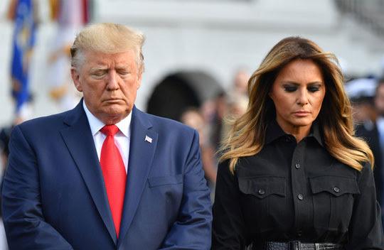 O presidente e a primeira-dama dos EUA, Donald e Melania Trump   Foto: Nicholas Kamm / AFP Photo