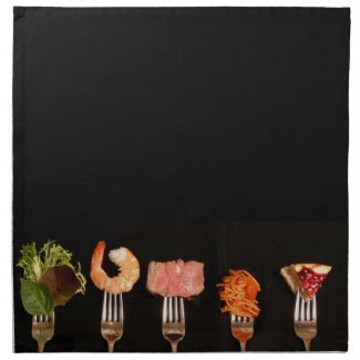 Food Lovers Dinner Napkin Napkins