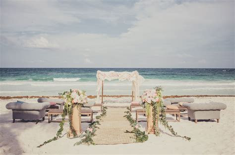 Romantic Destination Wedding in Tulum, Mexico: Taylea