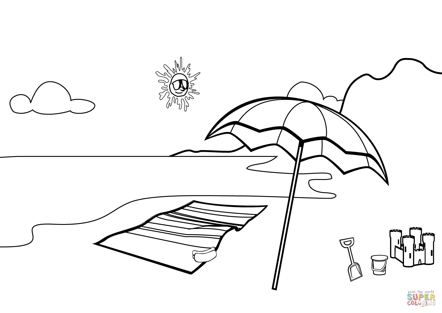 Beach Scene coloring page | Free Printable Coloring Pages