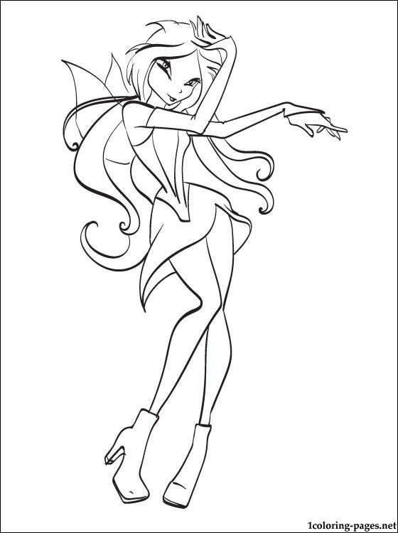 Coloring Page Winx Flora For Girls Coloring Pages