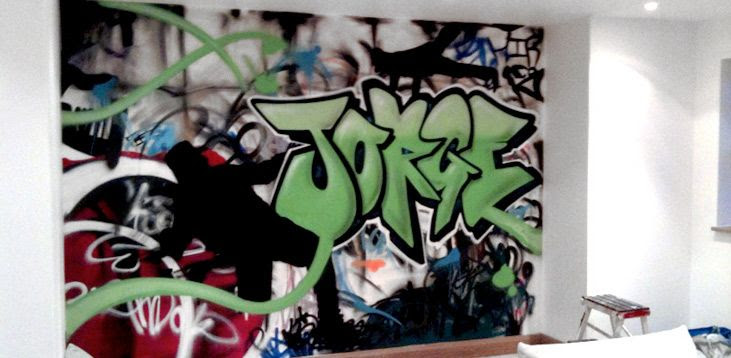 Graffiti bedroom art for sale | Hire a graffiti artist | Graffiti artists for hire | Custom murals | Mural artists | Muralist for hire | Professional graffiti