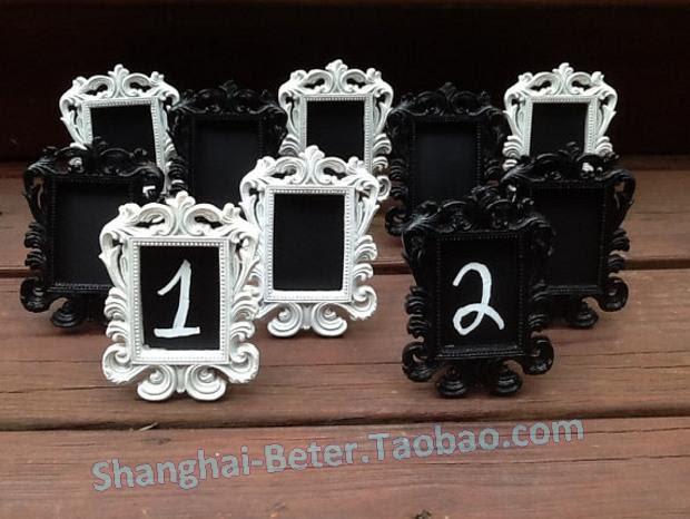 White Or Black Mini Chalkboard Table Number Frames Elegant Wedding