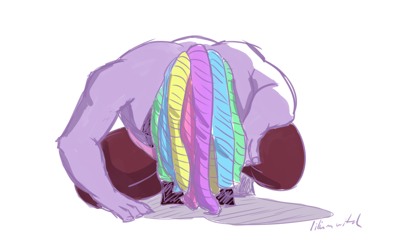 My warm-up today was Bismuth from the promo cause those back muscles…