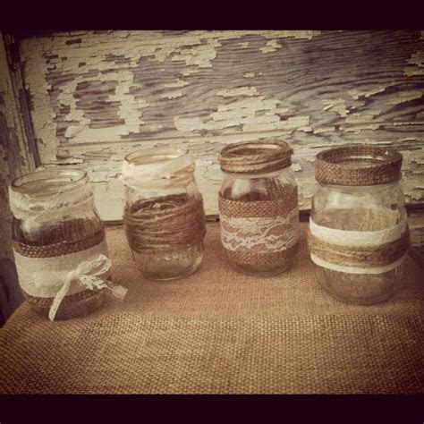 country wedding reception ideas with burlap and mason jars