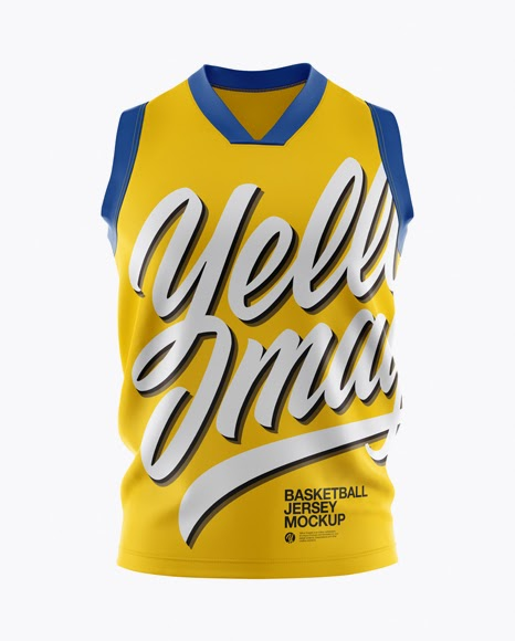 Download Basketball Jersey Mockup - Front View PSD Template ...