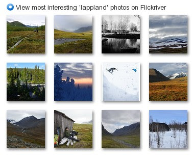 View most interesting 'lappland' photos on Flickriver