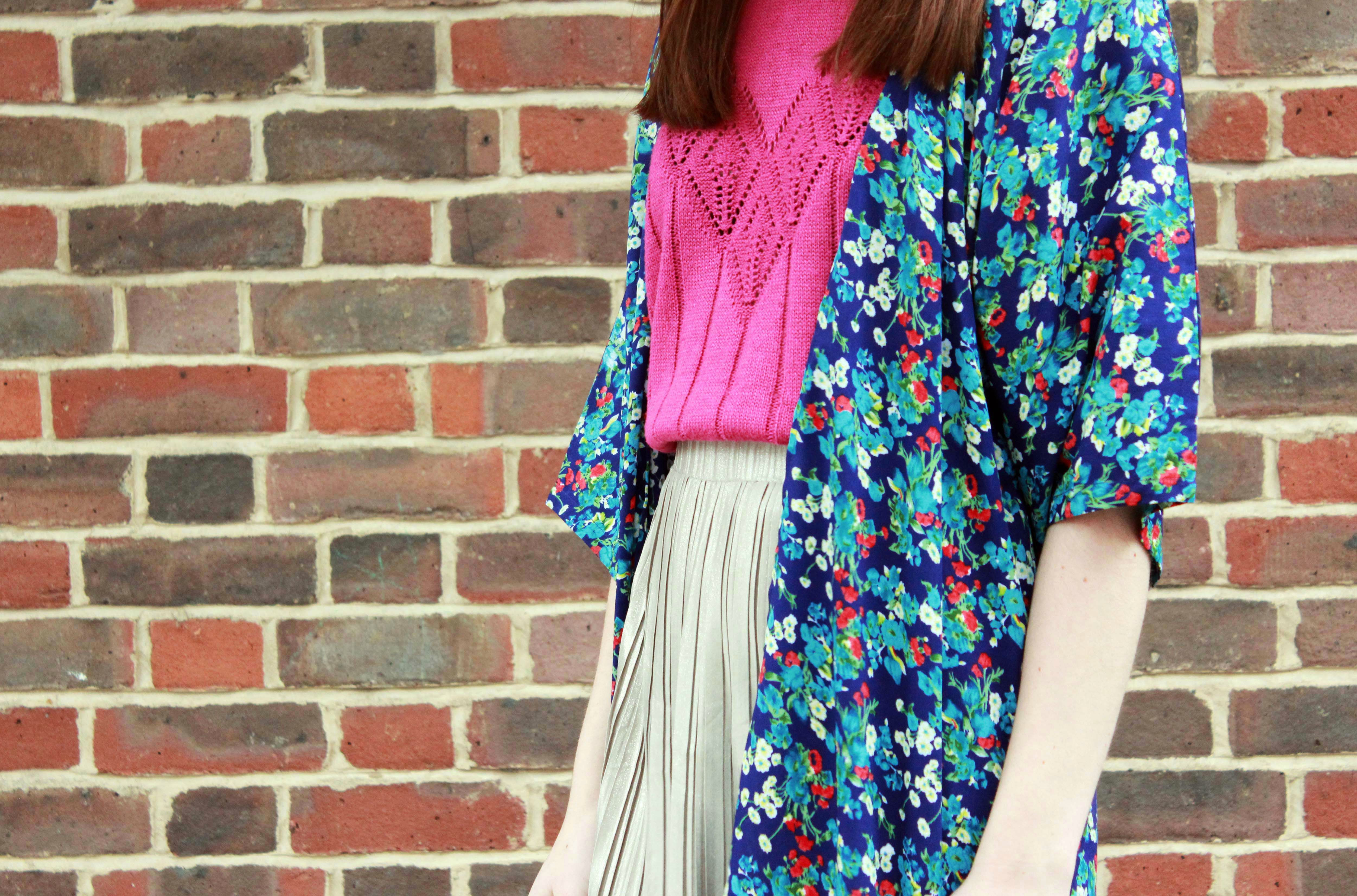 Clothes Minded Floral Kimono Outfit Photo