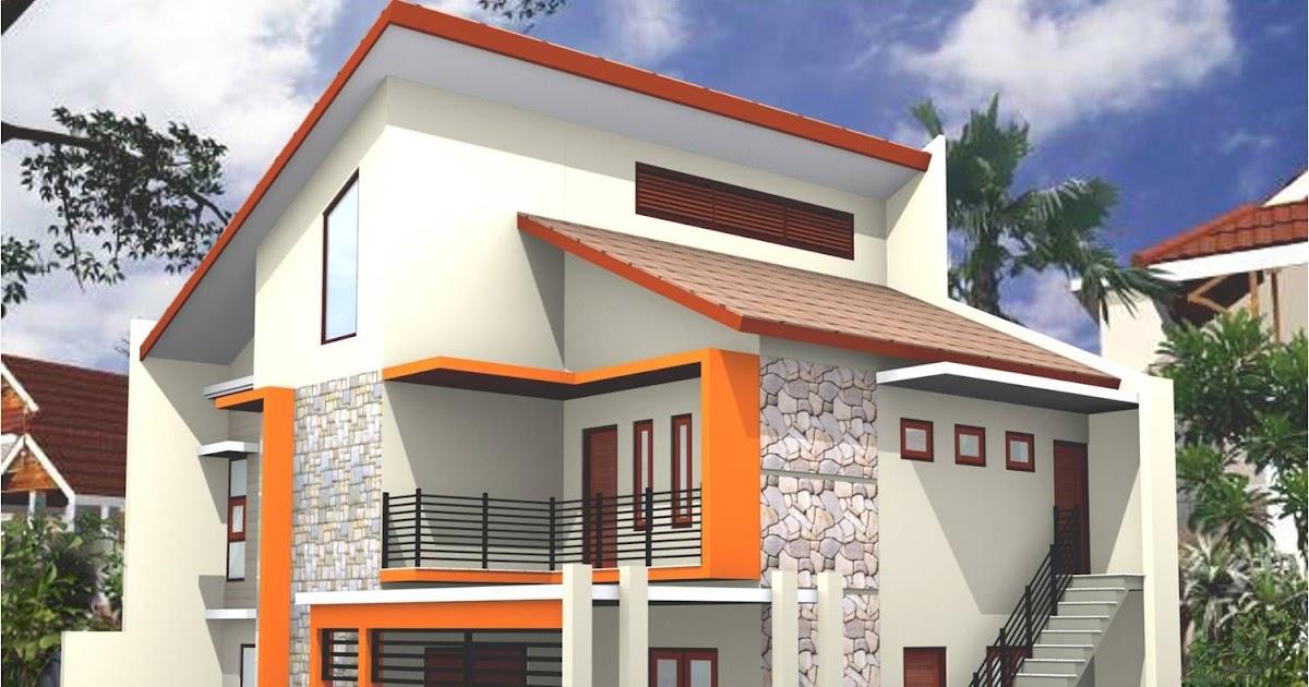 Desain Warna Eksterior Rumah Klasik - warna cat rumah ...