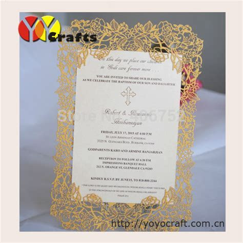 Elegant rose wedding invitations card laser cut simple