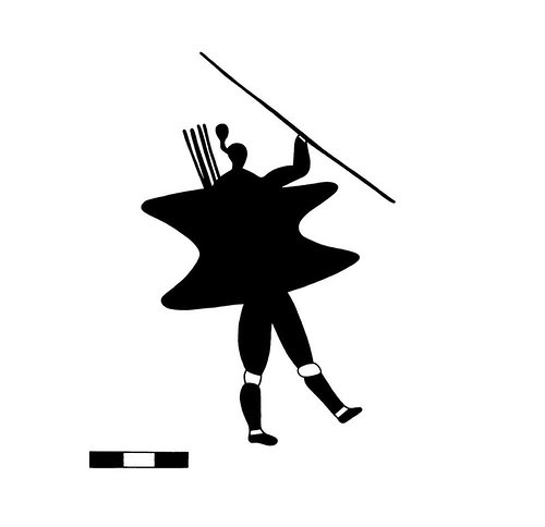 Shield - Rock art drawing (witwatersrand - aluka)