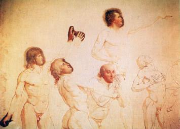 Jacques Louis David's study for the painting Le Serment du Jeu de Paume (The Oath at the Tennis Court)