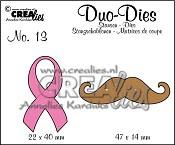 Duo Dies no. 13 Lint en Snor / Duo Dies no. 13 Ribbon and Moustache