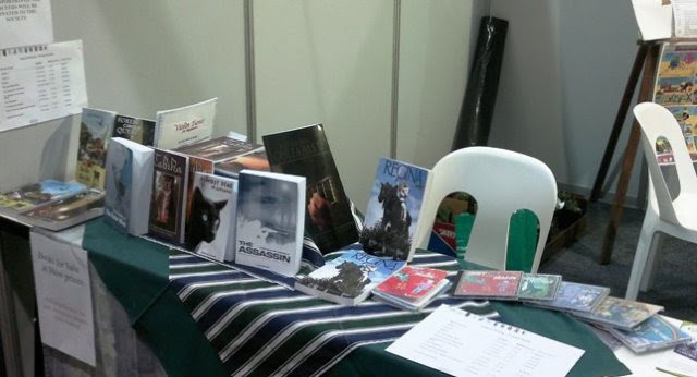 My book display at the Show.