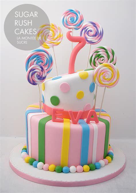Topsy Turvy lollipop cake