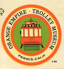 Orange Empire Trolley Museum decal