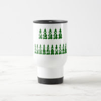 Merry Christmas Tree Font 15 Oz Stainless Steel Travel Mug