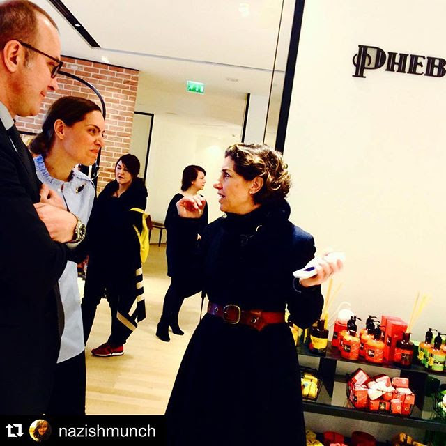 Um orgulho ver como o Brasil pode ser bem representado em qualquer lugar, inclusive ao presidente da loja, Monsieur Patrice Wagner que adora a marca!! #Repost @nazishmunch