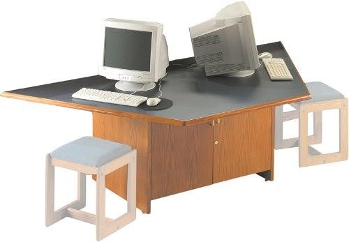computer desk home best buy discount texwood half hexagon computer center. Black Bedroom Furniture Sets. Home Design Ideas