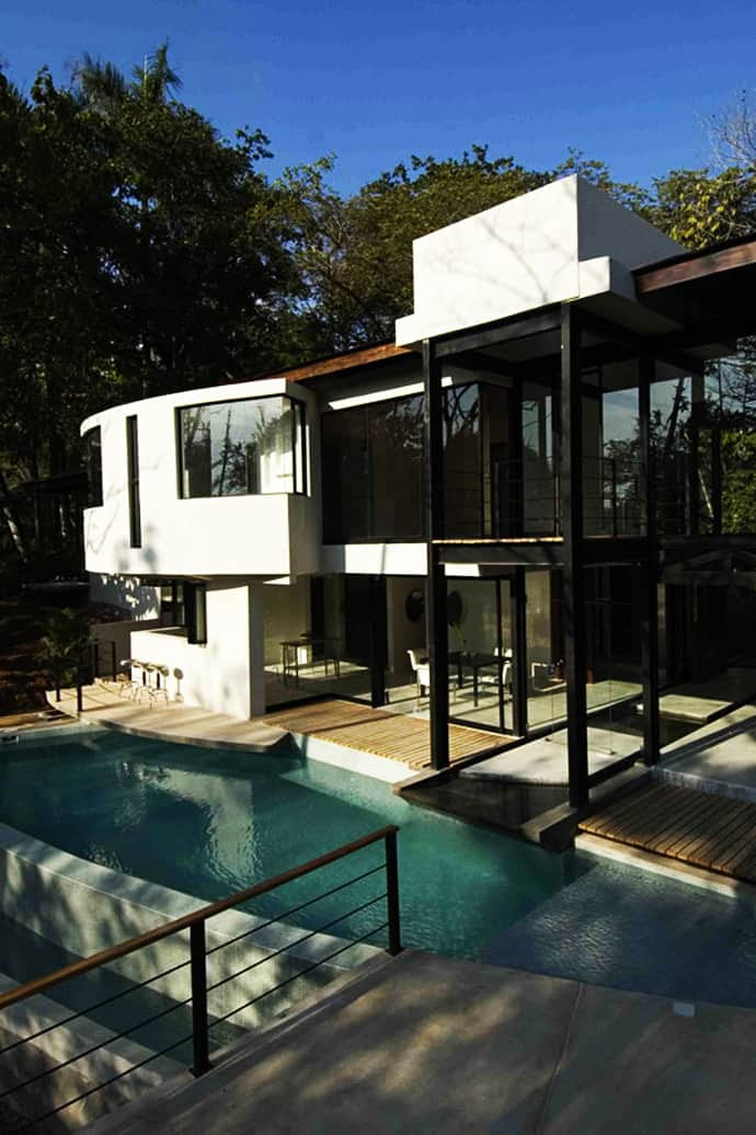 Amazing Modern House with Large Windows and Glass Walls, Costa ...