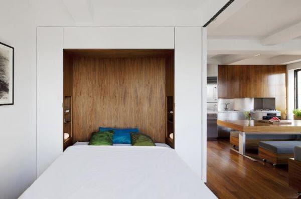 Tiny studio apartment with ingenious interior design solutions