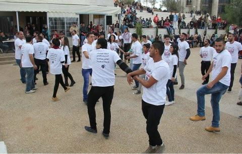 flashmob birzeit-university-palestine-2014