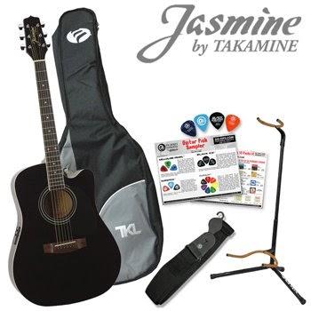 jasmine by takamine jasmine by takamine es31c acoustic electric guitar tkl gig bag kit. Black Bedroom Furniture Sets. Home Design Ideas