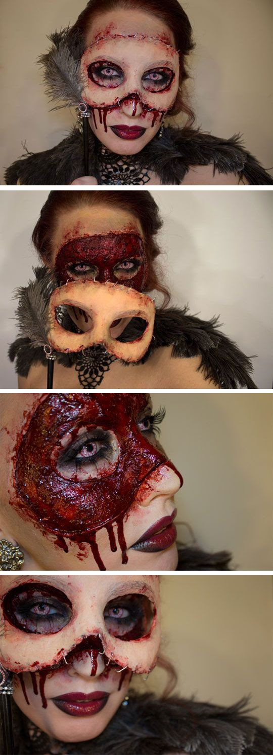 cool-makeup-mask-skin-horror-Halloween