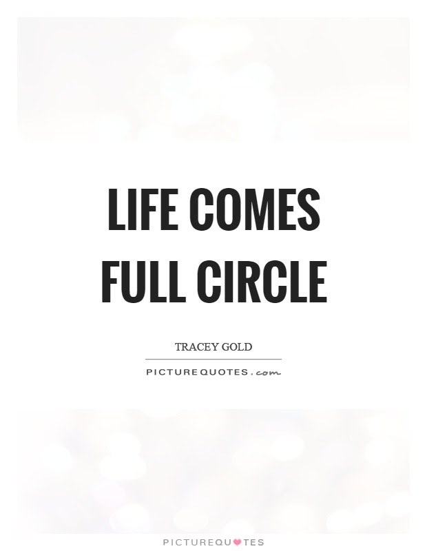 Life Comes Full Circle Picture Quotes