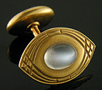 Antique Moonstone cufflinks crafted in 14kt gold. (J9013)