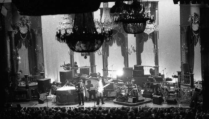 The Last Waltz concert at Winterland November 25, 1976, was filmed by Martin Scorcese  The Band and many guest musicians performed, including Neil Young, Bob Dylan, Van Morrison Ron Wood, Ringo Starr, Dr. John  and Joni Mitchell