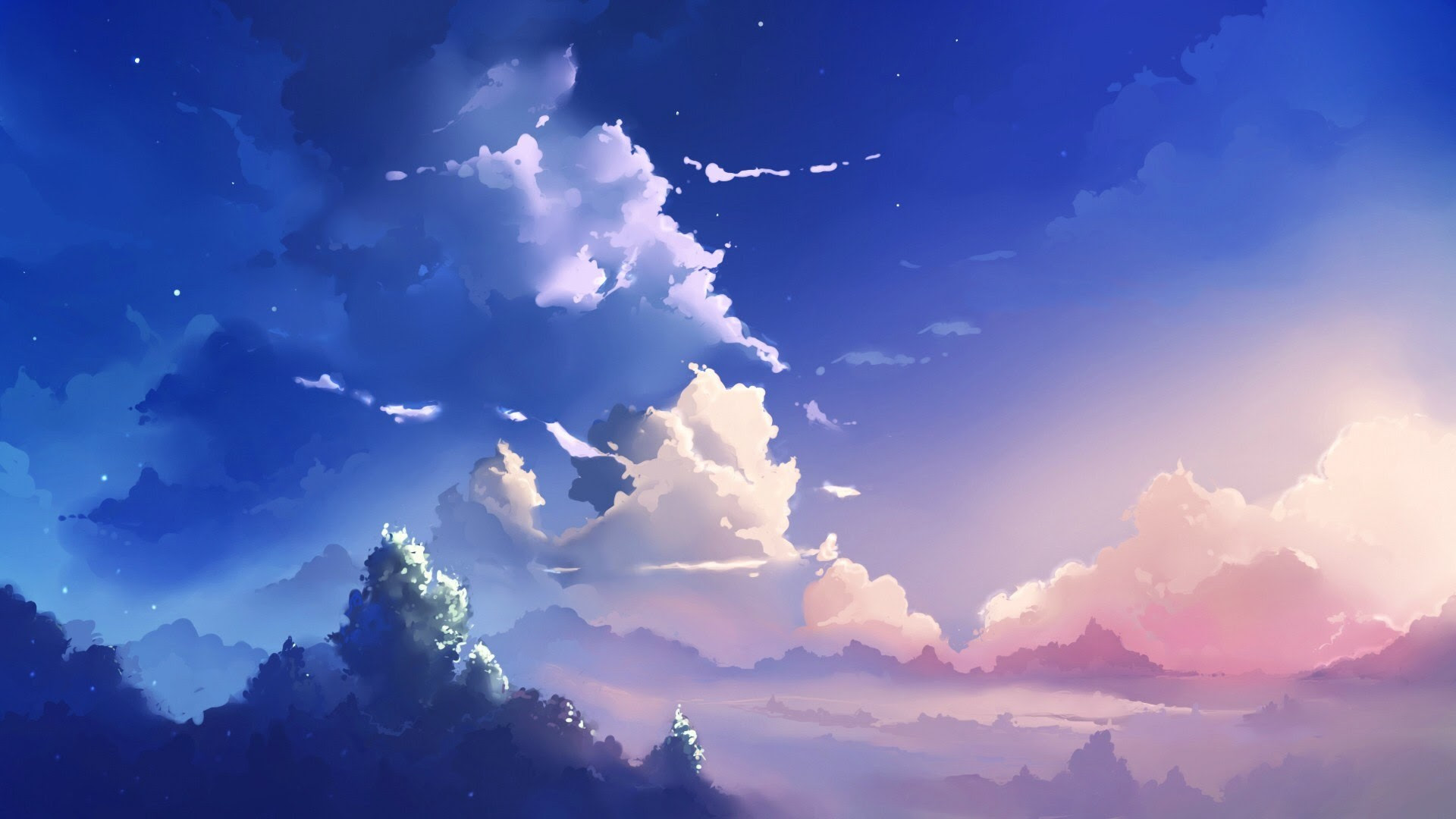 Beautiful Aesthetic Light Blue Anime Wallpaper Images