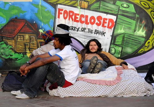 Residents of Occupy Los Angeles were evicted during the early morning hours of November 28, 2011. This eviction follows a trend of the anti-capitalist protests being attacked by the authorities. by Pan-African News Wire File Photos