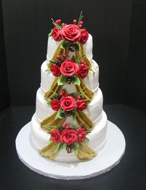 Christmas Wedding Cakes Idea 9 Wedding Cake   Cake Ideas