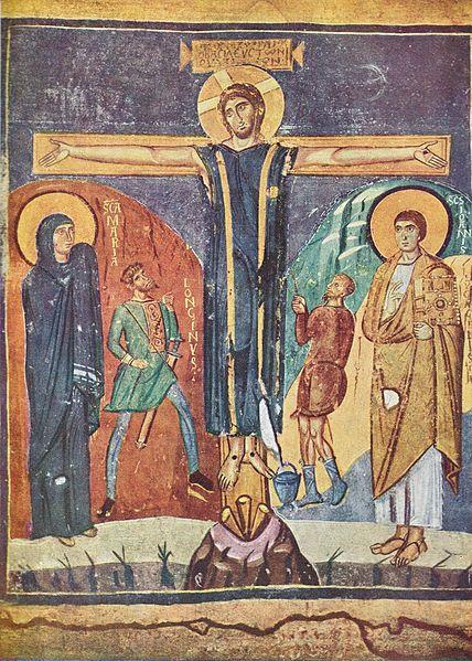 File: Korsfästelsen från Santa Maria Antiqua.jpg