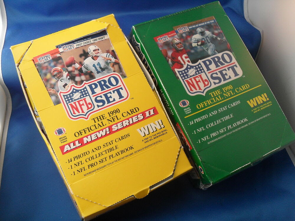 1990 PRO SET FOOTBALL  SERIES I  II BOX 72 NFL CARD PACKS / ONE OPEN TOP  eBay