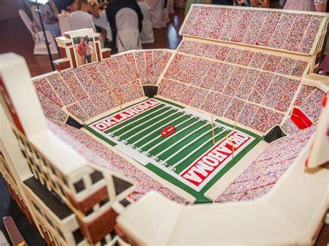 150 pound Oklahoma University stadium cake for groom goes