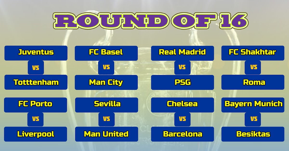 Chasingquait: Champions League Table Round Of 16 Bracket