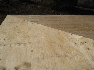 Porch Rafters Plywood Hip View
