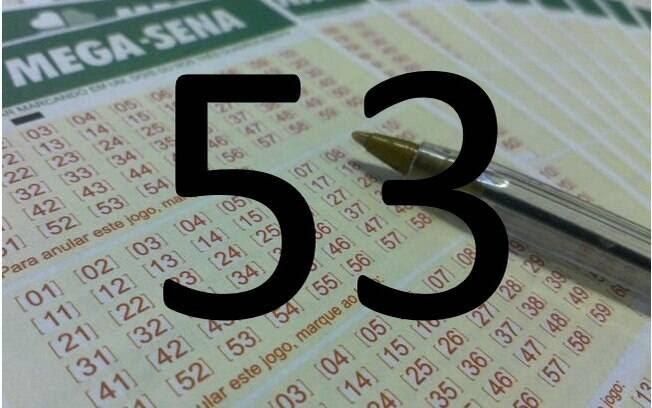 O 53 saiu em 186 sorteios da loteria. Foto: Divulgação
