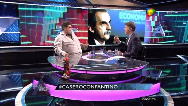 Casero analizó junto a Fantino la actualidad del país