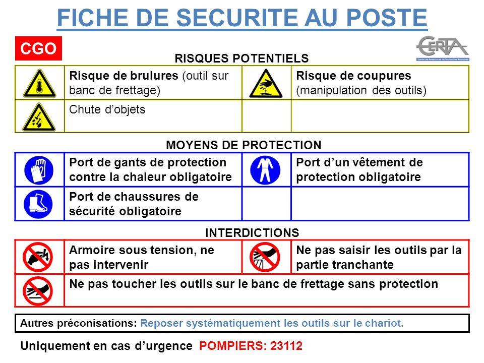 Fiche De Sécurité Au Poste De Travail Exemple - Exemple de ...